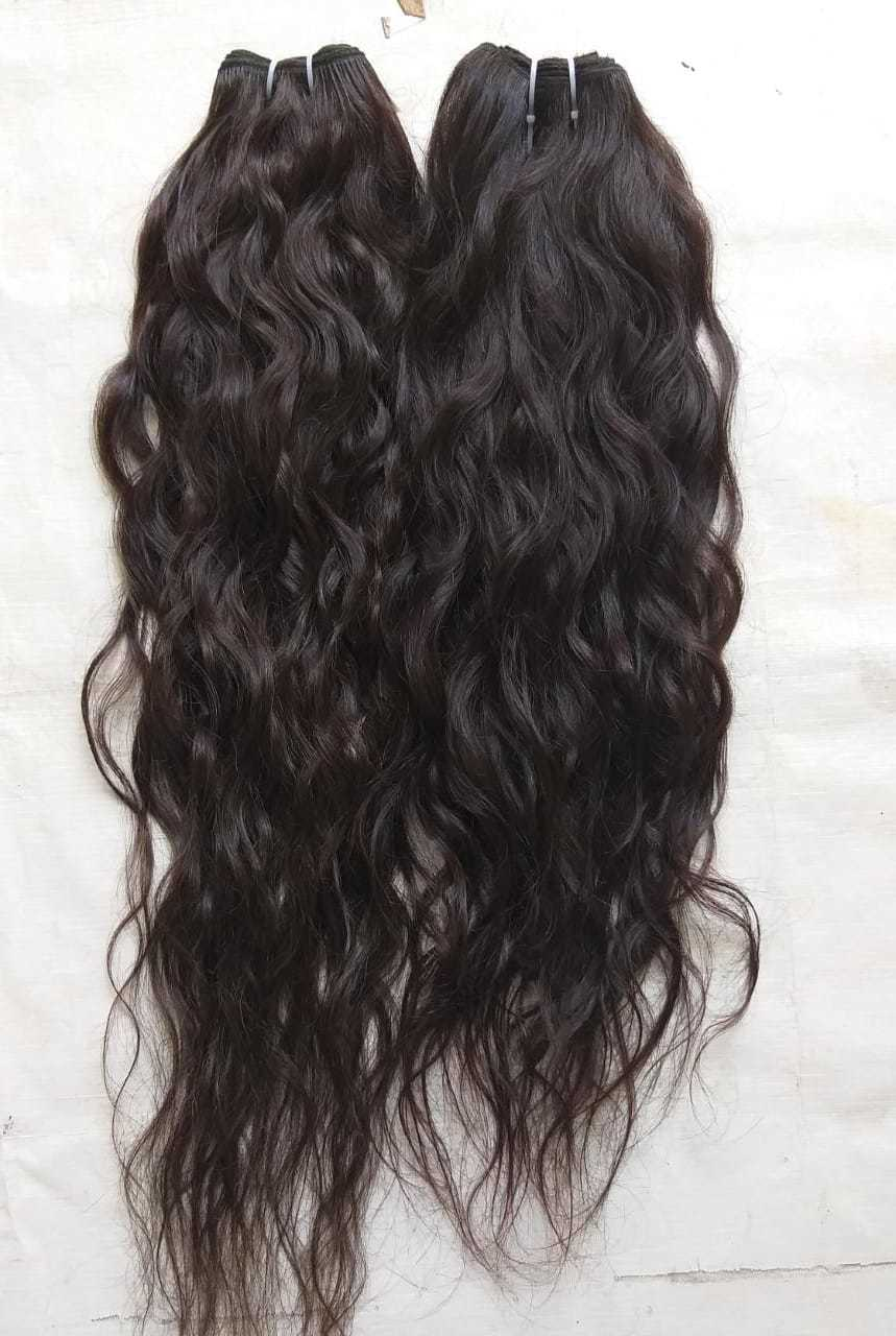 Natural Wavy Single Drawn Remy Indian Virgin Human Hair