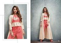 Aura Shrug Banarasi Cotton Kurti