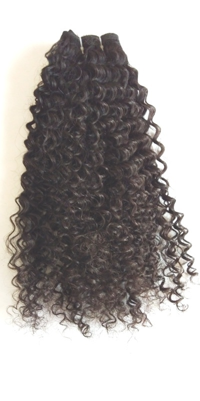 Jerry Curl Peruvian Human Hair Weaving Weft Curly Hair