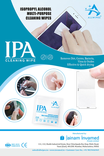 Alcohol Cleaning Wipes/swab(3 X 6 Cms )
