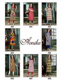 Avnika Manas Rayon Print Casual Kurtis Catalog