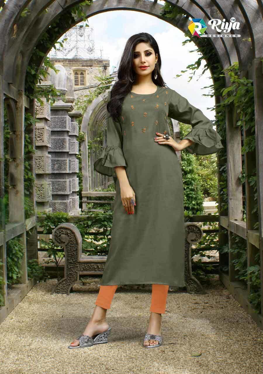 Ayana Riya Designer Khatli Zardosi Work Kurti