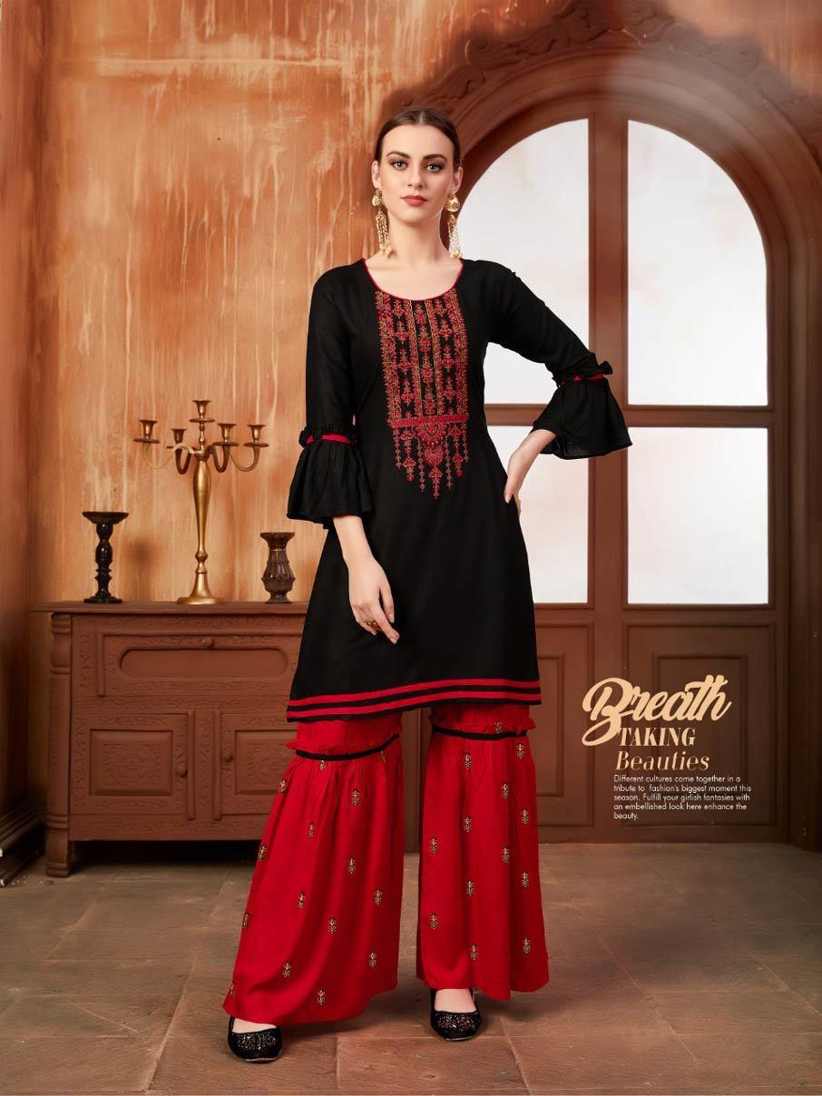 Ayush Fashion Inaaya Sharara Kurtis Catalog