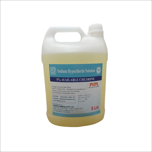 5 Ltr Sodium Hypochlorite Chemicals