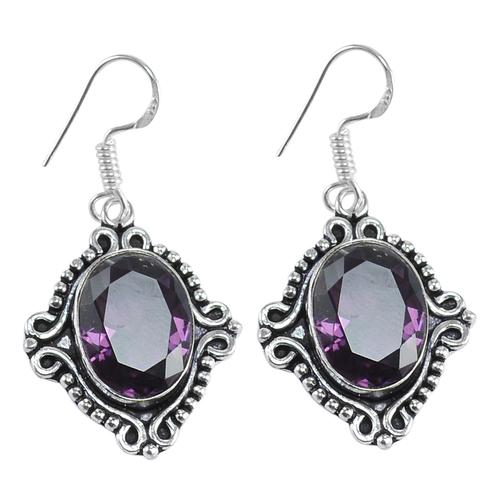 Purple Quartz Silver Earring PG-156635
