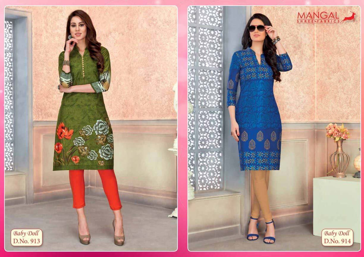 Baby Doll Vol-9 Mangal Shree Cotton Kurti Sets