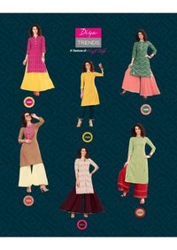 Bandhej Vol-1 Cotton Rayon Wholesale Kurti