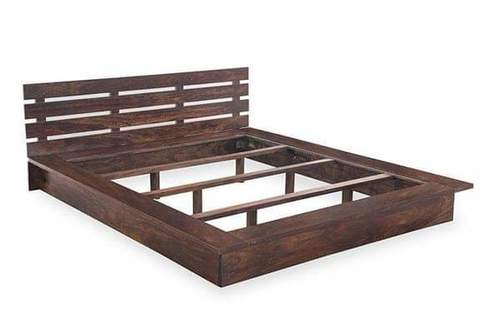 wooden bed with polishing