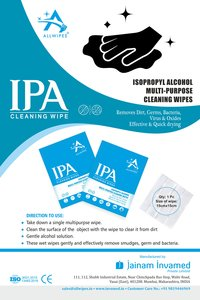 69% ALCOHOL CLEANING WIPES(15 X 15 CMS )