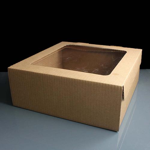 Corrugated Kraft Cake Box With Film Window