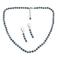 Dianite Blue Jade Silver Necklace Set PG-156650