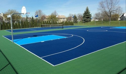 Tennis Court Indoor And Outdoor