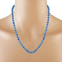 Blue Quartz Stone Silver Necklace set PG-156667