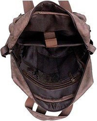 Buffalo Leather Laptop Messenger Backpack