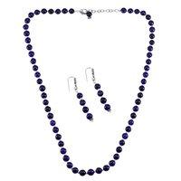 Amethyst Quartz Silver Necklace Set PG-156671