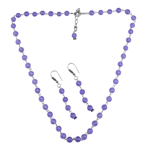 Purple Quartz Silver Necklace PG-156675