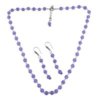 Purple Quartz Silver Necklace PG-156675