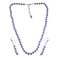 Purple Quartz Silver Necklace Set PG-156676