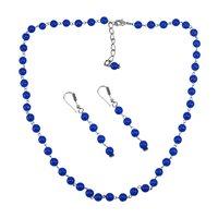 Blue Quartz Silver Necklace Set PG-156684