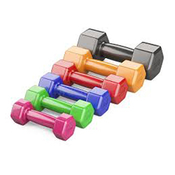 Colourful Vinyl Dumbbell