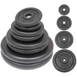 Gym Rubber Weight Plate Set