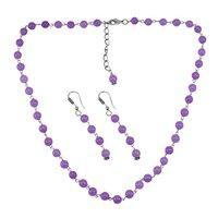 Purple Quartz Silver Necklace PG-156694