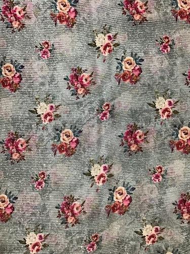 Printed Georgette Silk Fabric