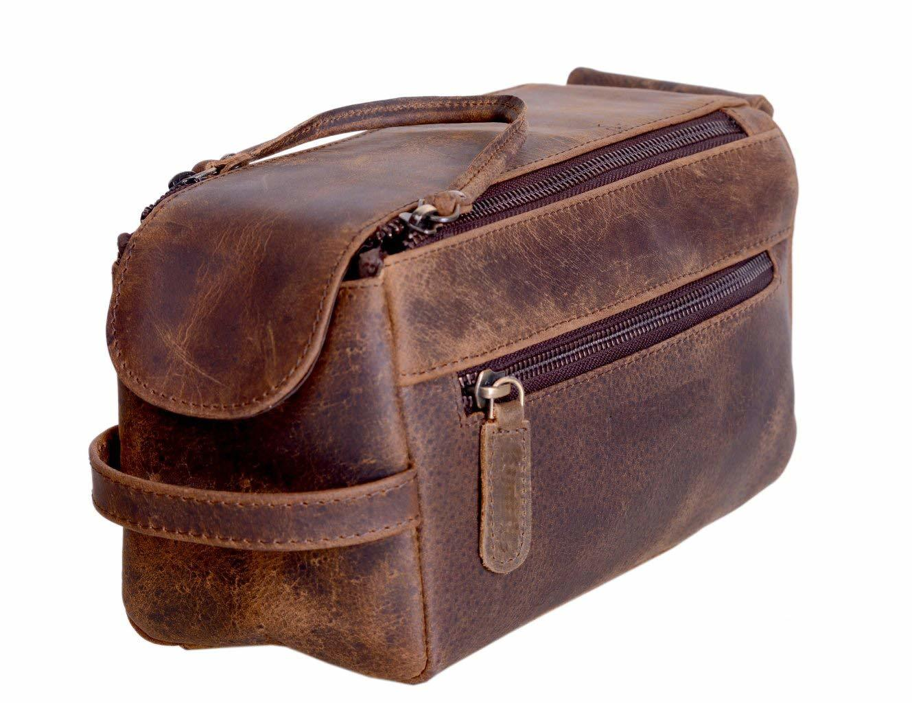 Buffalo Leather Toiletry Bag