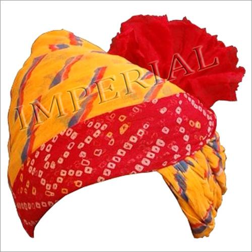 Pure Cotton Lahriya Bandhej Safa And Turban