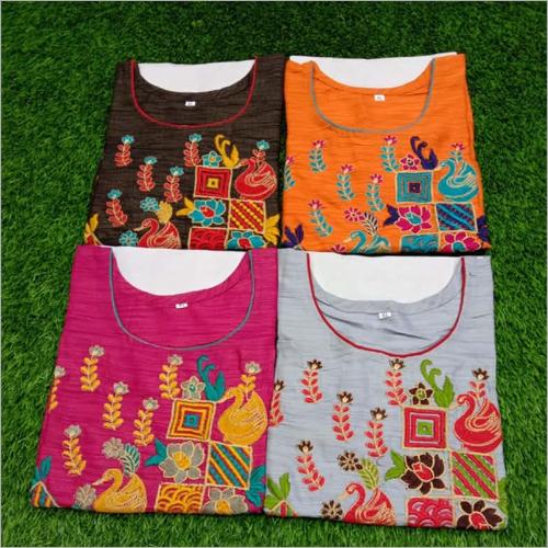 Ladies Embroidery Kurtis