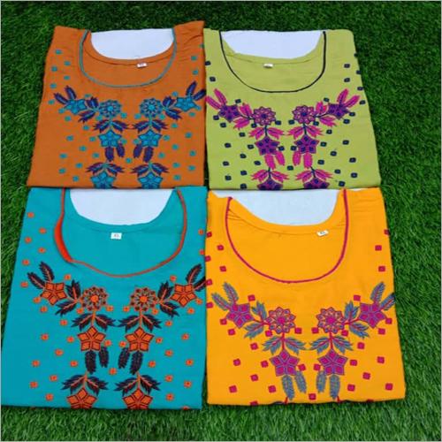 Flower Embroidery Kurtis