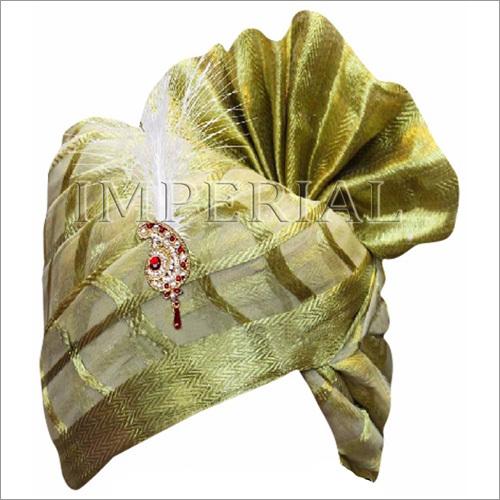 Zari Checks Banarasi Groom Turban