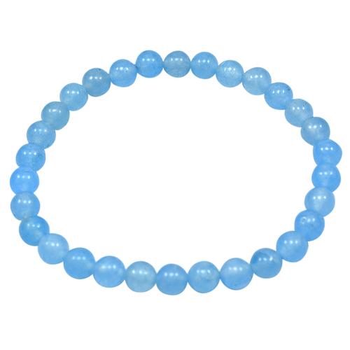 Light Blue Quartz Beaded bracelet PG-156710