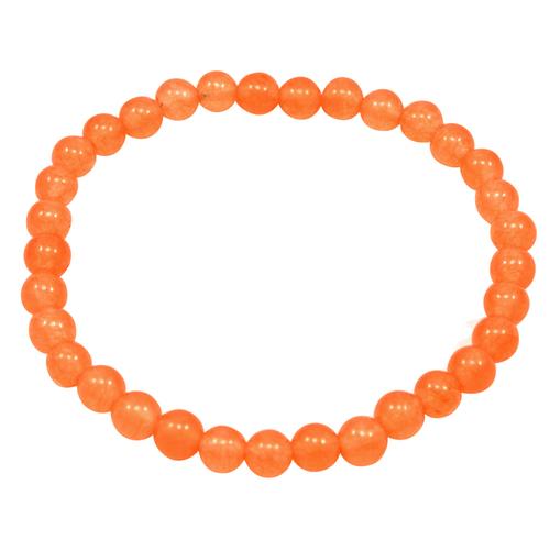 Light Orange Quartz Beaded Bracelet PG-156711
