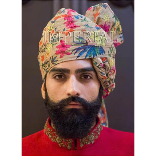 Flower Printed Indian Turban