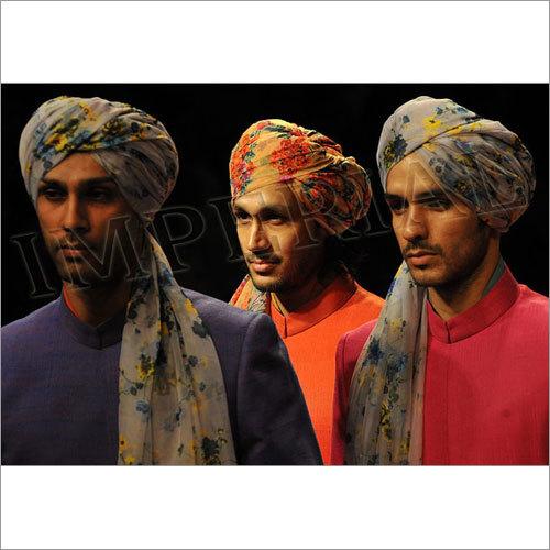 Organza Printed Safa & Turban