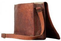 Brown Leather Messenger And Laptop Bag