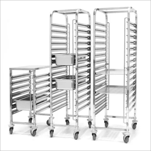 SS 60 x 40 mm - 15 nos Trolley for Baking Tray
