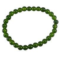 Olive Green Quartz Beaded Bracelet PG-156728