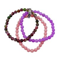 Triple Layer Gemstone Beaded Bracelet PG-156736