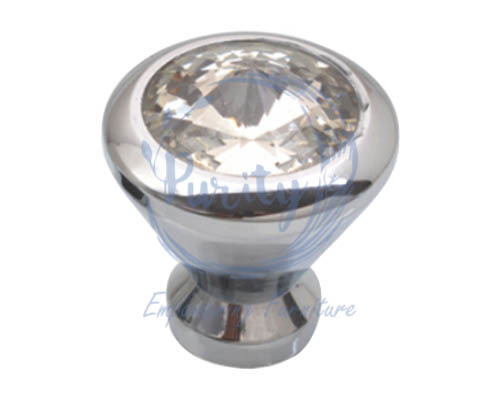 Brass Crystal Knob