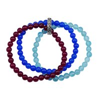Blue & Pink Quartz Beaded Bracelet PG-156739