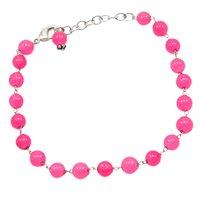 Pink Quartz Beaded Silver Bracelet PG-156747