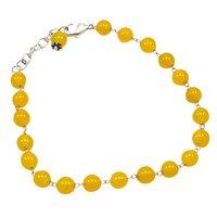 Yellow Quartz Beaded Silver Bracelet PG-156750