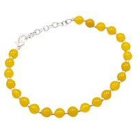 Yellow Quartz Beaded Silver Bracelet PG-156754