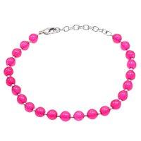 Pink Quartz Beaded Silver Bracelet PG-156757