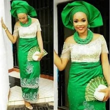 George wrapper with bouse aso ebi