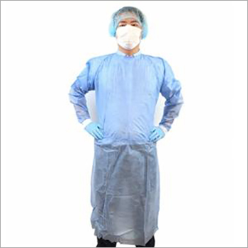 Non Woven Isolation Gown With Knitted Cuff