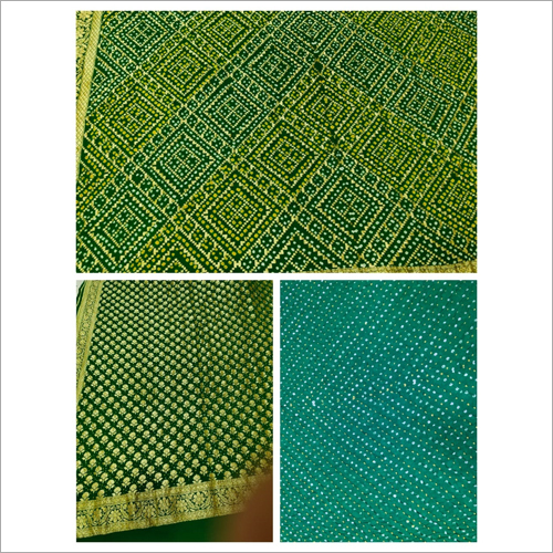 Chiffon Handloom Pure Khaddi Bandhej Dress Fabric