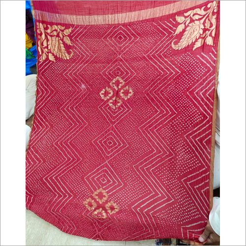 Moonga Spun Silk Pure Handloom Fancy Bandhej Dupatta